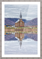 St. Pierres Church - Cheticamp Ns Picture Frame print
