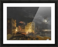 Venice, Nocturnal Festivities on the Via Eugenia Picture Frame print