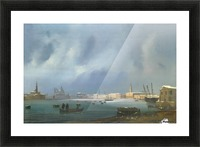 View of St. Mark's Basin in Venice under the snow Picture Frame print