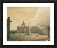 View of Saint Peter Square Picture Frame print