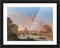 San Pietro e Castel Sant Angelo Picture Frame print