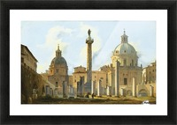 View of Trajan Forum in Rome Picture Frame print