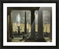 La place saint Pierre de Rome au clair de lune Picture Frame print