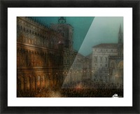 Carnival in Piazza Picture Frame print