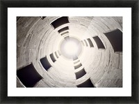 silo perspective Picture Frame print