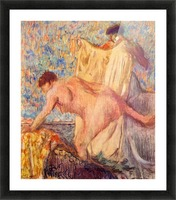 Withdrawing from the bathtub by Degas Picture Frame print