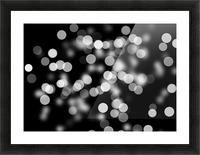 Bokeh Out Of Focus Black White Background Light Picture Frame print