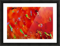 Background Abstract Leaves Seasons Orange Oranges Picture Frame print