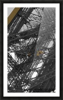 Eiffel tower Paris gold on black and white  Picture Frame print