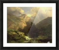 The Jungfrau, Switzerland Picture Frame print