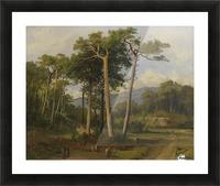 A forest landscape Picture Frame print