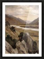 Mountainous Riverscape Picture Frame print