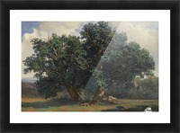 Painting of a big green tree Picture Frame print