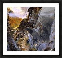 Landscape with cliffs Picture Frame print