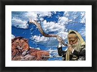 Art   Pinchos   shofar   LION  3D  1 Picture Frame print