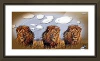 art   lion 3D  A Picture Frame print