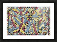 Multicolor Abstract Picture Frame print