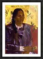 Woman with Gardenia by Gauguin Picture Frame print