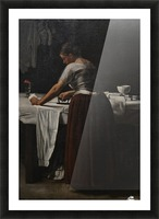 Woman ironing Picture Frame print