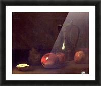 Still life with apples Picture Frame print