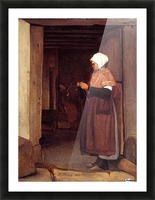 Peasant knitting Picture Frame print