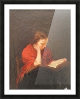 Woman reading Picture Frame print