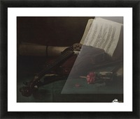 Still life violin Picture Frame print