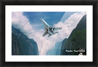 ART  jet   Clouds 1 Picture Frame print