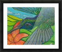 In To The Hummingbird's Eye Picture Frame print