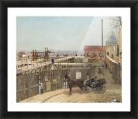 The construction of Sacre-Coeur, Montmartre Picture Frame print