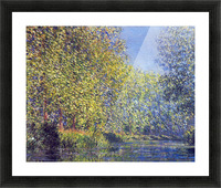 A Bend in the Epte Giverny by Monet Picture Frame print