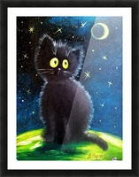 Черный кот Picture Frame print