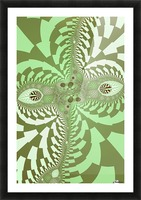 Green Abstract Picture Frame print