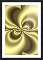 Gold Abstract Picture Frame print