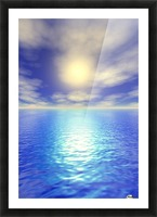Scenic Ocean View Picture Frame print