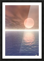 Illustrated Sun Over A Seascape Picture Frame print