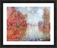 Autumn in Argenteuil by Monet Picture Frame print