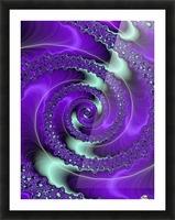 Purple Vortex Picture Frame print