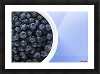 Bowl Of Blueberries Picture Frame print