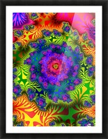 Vivid Abstract Image Picture Frame print