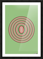 Concentric Circles Picture Frame print