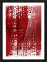 Red Texture Picture Frame print