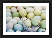 Easter Eggs And Basket Picture Frame print