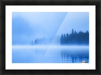 Foggy Lake Picture Frame print