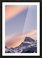 Clouds At Sunset Above Mountain Peaks, Kootenay Plains, Alberta, Canada Picture Frame print