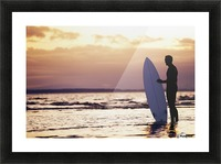 Surfer Silhouette Picture Frame print
