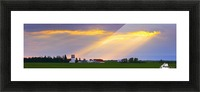 God Beams Over Prairie Farm Picture Frame print