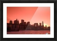 Lower Manhattan Skyline Viewed From Brooklyn Bridge Park, Brooklyn, New York City, New York, Usa Picture Frame print