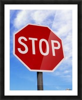 Stop Sign; Ireland Picture Frame print