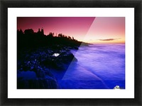 Pemaquid Point Lighthouse, Bristol, Maine, Usa Picture Frame print